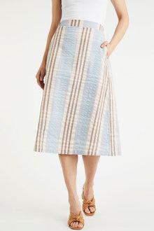 Grace Hill Seersucker Check Skirt - 270468