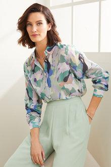 Grace Hill Silk Blend Shirt - 270470