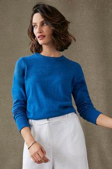 Grace Hill Cashmere Blend Crew Sweater - 270477