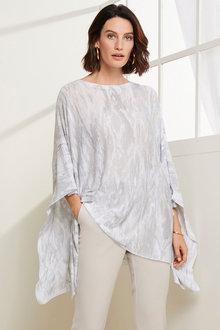 Grace Hill Linen Blend Poncho - 270479