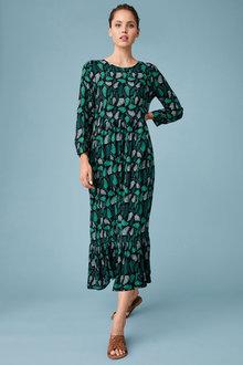Emerge Printed Midi Dress - 270489