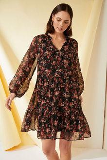 Emerge Tiered Chiffon Dress - 270490