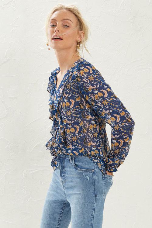 Emerge Ruffle Front Shirt