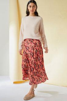 Emerge Printed Midi Skirt - 270495
