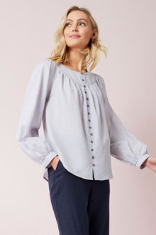 Emerge Cotton Gathered Shirt - 270502