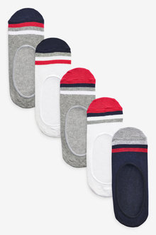 Next 5 Pack Cotton Rich Invisible Trainer Socks (Older) - 270598
