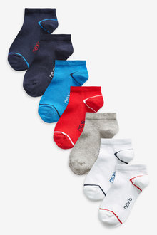 Next 7 Pack Cotton Rich Trainer Socks (Older) - 270599