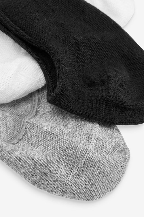 Next 7 Pack Cotton Rich Invisible Trainer Socks (Older)