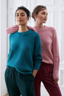 Emerge Ribbed Crew Neck Sweater - 270650