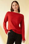 Emerge Rib Boatneck Sweater