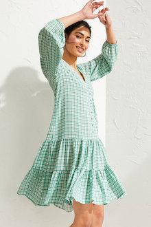 Emerge Long Sleeve Printed Tier Dress - 270662