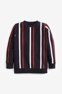 Next Vertical Stripe Crew Neck Sweatshirt (3-16yrs) - 270695