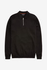 Next Knitted Zip Poloshirt-Regular