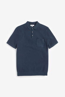 Next Textured Knitted Polo - 270760