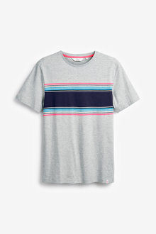 Next Chest Stripe Regular Fit T-Shirt - 270771