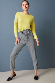 Emerge Houndstooth Belted Pant - 270778