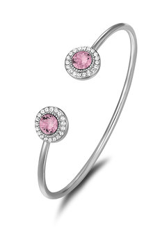 Mestige Ayla Bangle with Pink Swarovski Crystals - 270810