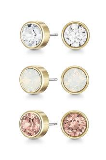 Mestige Golden Maya Earrings with Swarovski Crystals - 270819