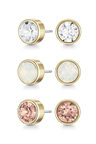 Mestige Golden Maya Earrings with Swarovski Crystals