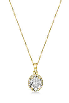Mestige Golden Laurent Necklace with Swarovski Crystals - 270820