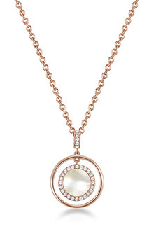 Mestige Rose Gold Touchstone Necklace with Swarovski Crystals - 270824