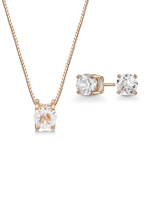 Mestige Rose Gold Sadie Set with Swarovski Crystals