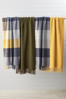 Check Wool Throw - 270839