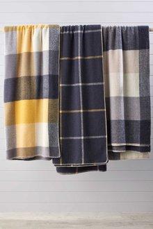 Check Wool Blanket - 270841