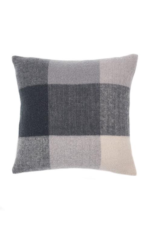Check Wool Cushion