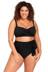 Hues Black Botticelli Bikini Top