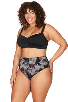 La Boheme Black Botticelli High Waist Swim Pant - 270864