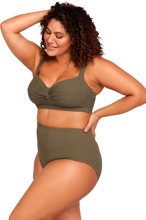 Aria Olive Botticelli Bikini Top