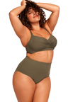 Aria Olive High Waist Swim Pant