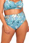 Artesands Side Ruched High Waist Tummy Control Swim Pant
