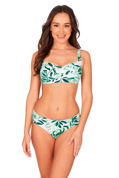 Nip Tuck Swim Oasis Green Twist Front Bikini Set Swimsuit