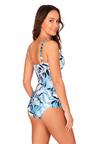 Nip Tuck Swim Oasis Blue Cross Over Tankini Set Swimsuit