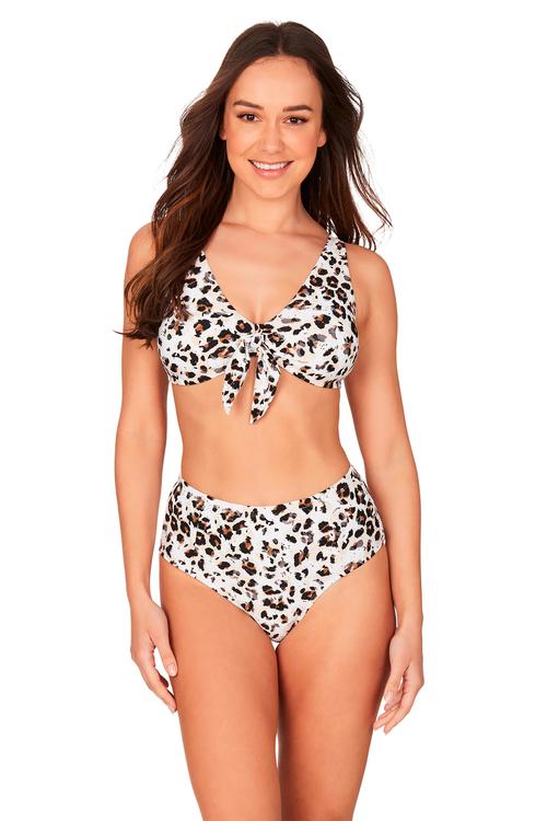 Nip Tuck Swim Wild At Heart Faux Knot Bikini Set Swimsuit