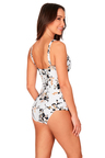 Nip Tuck Swim Floral Opulence White Cross Over Tankini Set Swimsuit
