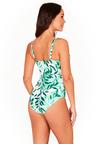 Nip Tuck Swim Oasis Green Cross Front One Piece Swimsuit