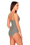 Stripe Black & Cream Cross Over Tankini Set Swimsuit
