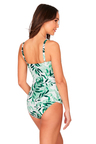 Nip Tuck Swim Oasis Green Cross Over Tankini Set Swimsuit