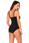 Delta Belted Ring Front Featured One Piece Swimsuit