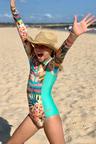 Bluesalt Beachwear Long Sleeve Surf Tank Swimsuit