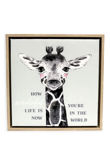 Splosh Baby Giraffe Framed Canvas - 271073