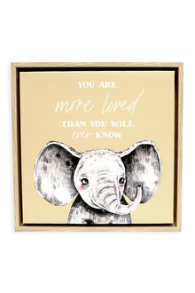 Splosh Baby Elephant Framed Canvas - 271074