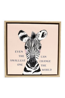 Splosh Baby Zebra Framed Canvas - 271075