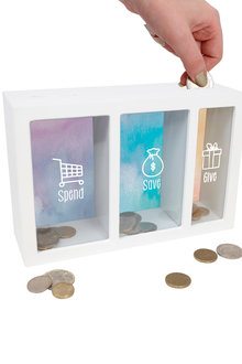Splosh Spend Save Give Change Box - 271082