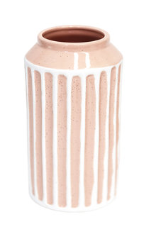 Splosh Flourish Peach Stripe Small Vase - 271088