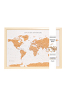 Splosh Travel Board Small World Map
