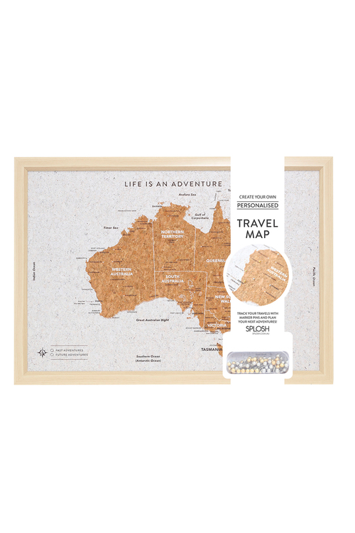 Splosh Travel Board Small Australia Map